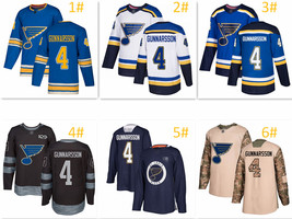 Men's Adidas St. Louis Blues #4 Carl Gunnarsson Jersey - $58.99