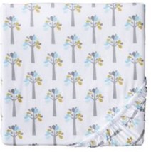 Circo Baby Trunks Of Love Trees Fitted Crib Sheet Toddler Aqua Green - $13.49