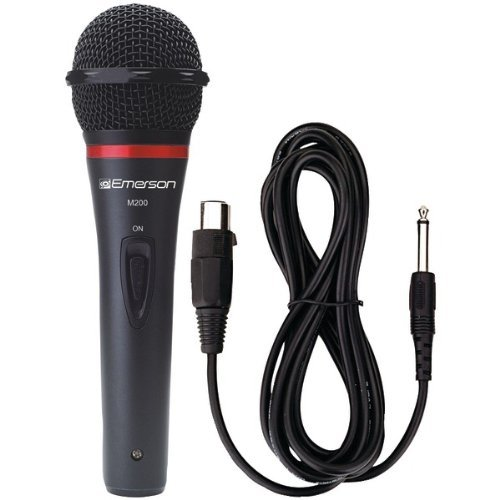 KARAOKE USA M200 Professional Dynamic Microphone with Durable Metal Case & Grill