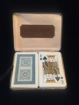 Vintage Tower Double Playing Card Faux Leather boxed set- 2 Classic Blue image 3