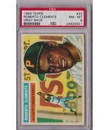 1956 Topps Roberto Clemente Gray Back #33 PSA 8 P421 - $3,809.22