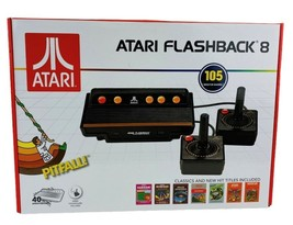 Atari Flashback 8 New In Box 105 Games Pitfall Space Invaders Frogger Joysticks - $39.95