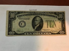 United States Hamilton $10 circulated banknote 1934 A #5 - $21.95