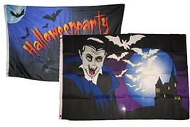 ALBATROS 3 ft x 5 ft Happy Halloween 2 Pack Flag Set Combo #20 Banner Gr... - $36.42
