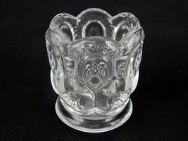 Vintage Toothpick Holder, Smith Glass Clear Moon & Stars Pattern, #TPK-B74 - $12.69