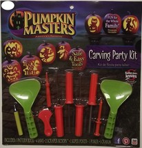 New Halloween Pumpkin Masters 25 Piece Jack O Lantern Carving Party Kit - £8.18 GBP