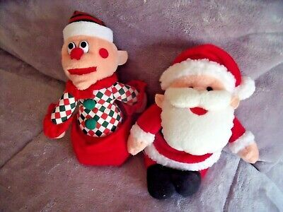 Primary image for VINTAGE 1998 STUFFINS Charlie In The Box & SANTA Plush Stuffed Dolls HTF
