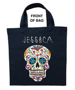 Day of the Dead Trick or Treat Bag, Personalized Day of the Dead Hallowe... - $11.99+