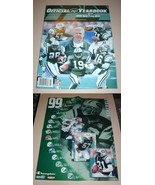 NFL New York JETS Official Yearbook 1999 & Poster Football Team Book Mag... - $12.99