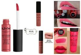 NYX Soft Matte Lip Cream Gloss 5 Pack Set Cosmetics Makeup Pink Neutral Red Pro - $19.75