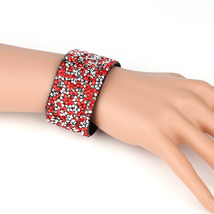 UNITED ELEGANCE Stylish Cuff Wristband With Sparkling Swarovski Style Crystals - $11.99