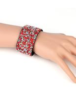 UNITED ELEGANCE Stylish Cuff Wristband With Sparkling Swarovski Style Cr... - $11.99