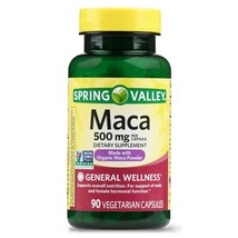 Spring Valley Maca Capsules 500mg 90 Count Peruvian Ginseng.. - $14.84