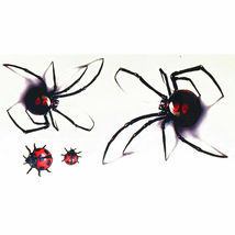 Black Spider 3d Waterproof Temporary Tattoo Stickers - One Sheet image 7
