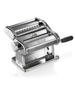 Atlas Pasta Machine Made in Italy Chrome Includes Pasta Cutter Hand Crank - $133.64