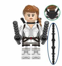 Black Widow (White Suit) Marvel Super Heroes Custom Minifigures Building Toys - $2.99