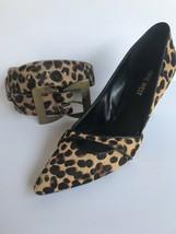 Nine West Womens Kimery Genuin Calf Hair D'Orsay Pump Leopard 8M - $24.97