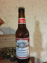 Budweiser Millennium Ale beer bottle with cap bud year 2000 y2k collection - $20.00