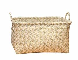 Useful Storage Containers Household Storage Basket Laundry Basket[Beige] - £24.20 GBP