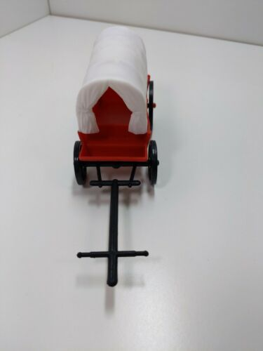 Primary image for Vintage plastic covered wagon Red WHite Black