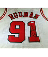 DENNIS RODMAN / NBA HALL OF FAME / HAND SIGNED CHICAGO BULLS CUSTOM JERS... - $98.95