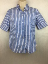 American Eagle Favorite Womens Blue, White & Pink Striped Button Shirt Size 0 - $14.84