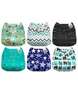 Mama Koala One Size Baby Washable Reusable Pocket Cloth Diapers, 6 Pack ... - $45.22