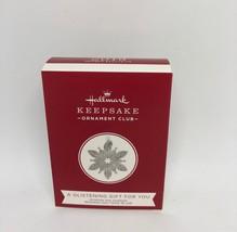 Hallmark Keepsake 2019 A Glistening Gift for You Limited Christmas Ornam... - $14.97