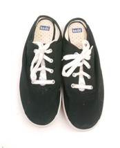 Keds  Champion Lace Shoes black  8 Womens heel side open. - $25.23 CAD