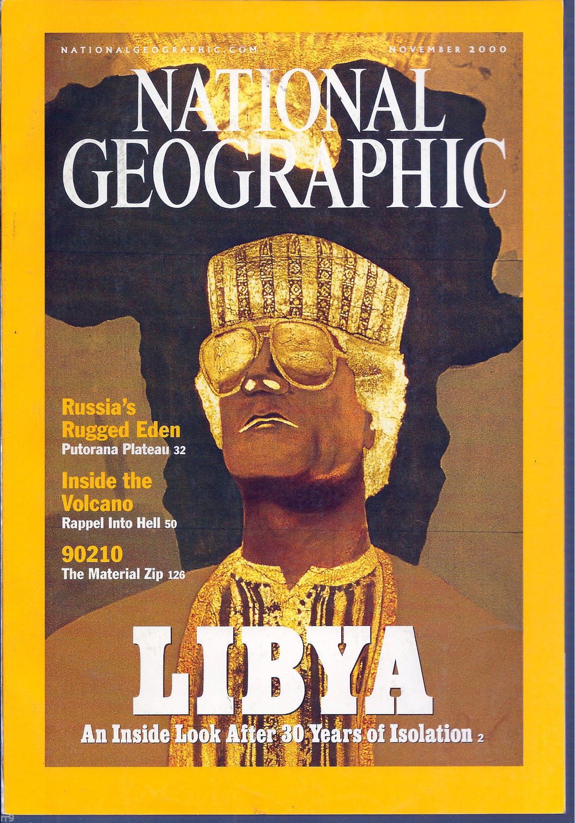 Primary image for National Geographic November 2000 Libya After 30 Years Isolation, 90210,Volcano'
