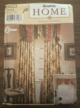Simplicity Home Decorating Valence & Panels paper sewing pattern New &Un... - $13.95