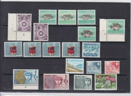 SWITZERLAND TEST , DUMMY , TRIAL STAMPS COLLECTION , SOME NUMBERED MARGINS - $29.17