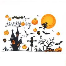 (01)Halloween Pumpkins Witch Wall Stickers Decals Removable Home Decorat... - $20.00