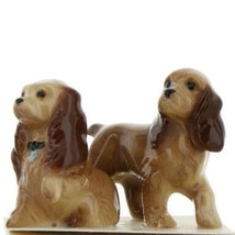 Hagen Renaker Miniature Dog Cocker Spaniel Mama and Papa Ceramic Figurine Set