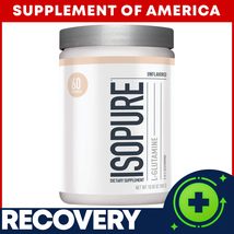 "Isopure L-Glutamine BEST RECOVERY Unflavored 60 Servings ""FREE SHIPPING""  - $21.76"