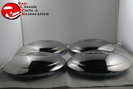 1934 Ford 4 Cylinder Car Pickup Truck Stainless Hub Caps Ford Script Set... - $97.43