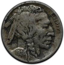 1924D Buffalo Nickel 5¢ Coin Lot# A 269 image 1