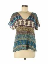 Sincerely Mary Women's Paisley Print Boho Hippie Blouse Shirt Size Medium  - $17.99