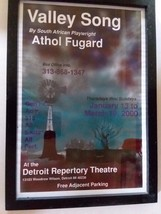 2000 Framed Detroit Rep Theatre Window Card Advertising Valley Song Sout... - $23.16
