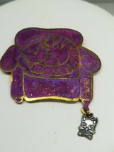 Pin Big Purple Couch with Outline Cat Mouse Hanging On - $15.29