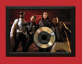 BLACK EYED PEAS  POSTER ART WOOD FRAMED GOLD 45 DISPLAY FREE US SHIPPING... - $156.75