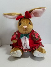 Velveteen Rabbit Plush Stuffed Christmas Rabbit Commonwealth 1995 - $9.69