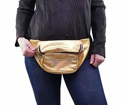 Home X Gold Sparkle Fanny Pack, Running Belt, Waterproof Bum Bag with Pockets