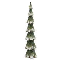 "Christmas decoration Green & White Glitter Resin Tree, 15"" seasonal - $89.09"