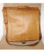 Vintage Boulder Ridge Leather Crossbody Messenger Bag Brown Tan Soft Cow... - $89.99