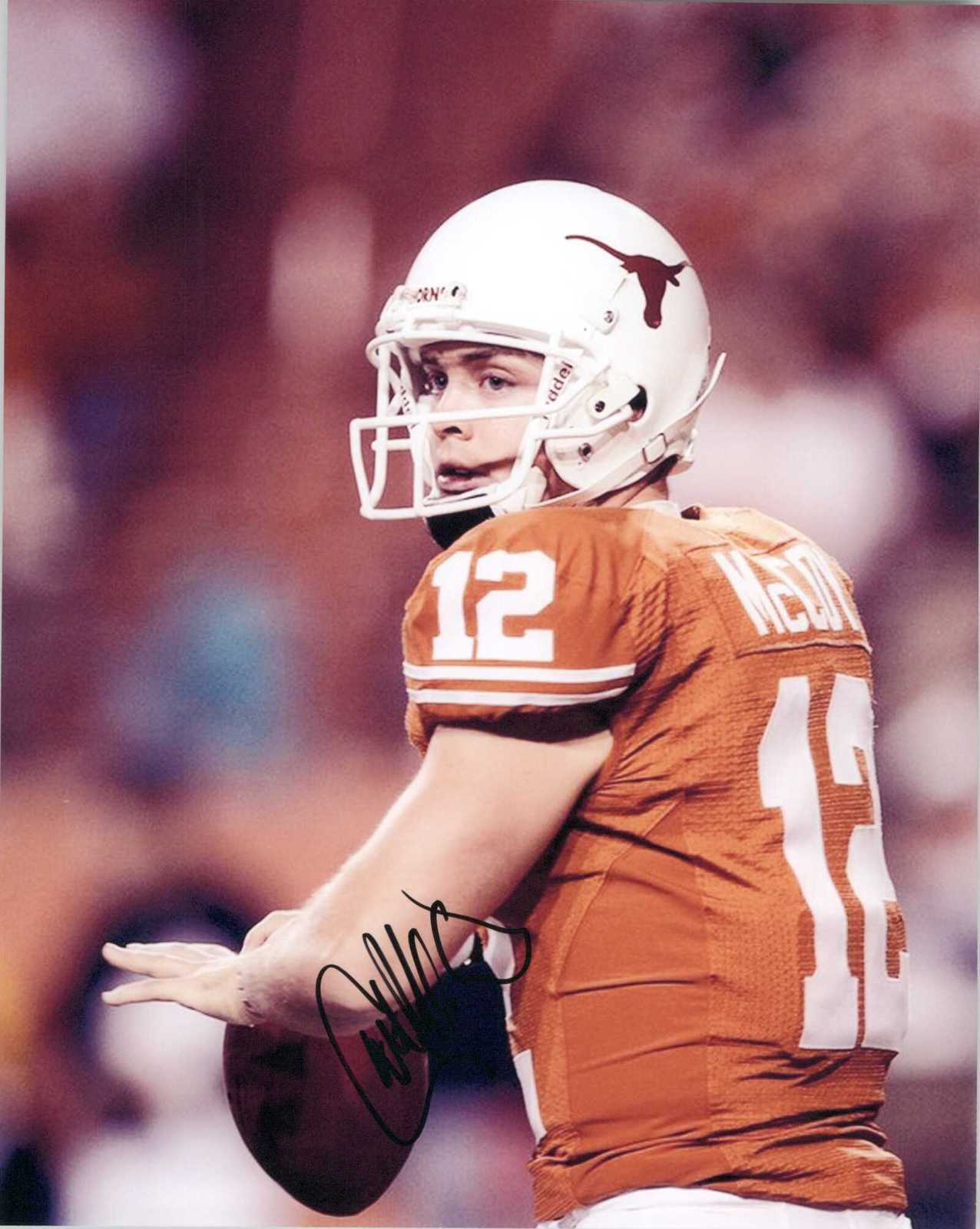 Primary image for Colt McCoy Signed Autographed Glossy 8x10 Photo - Texas Longhorns