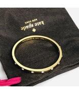 Kate Spade New York Gold Bangle Bracelet Clear Swarovski Rhinestones 7in... - $44.06