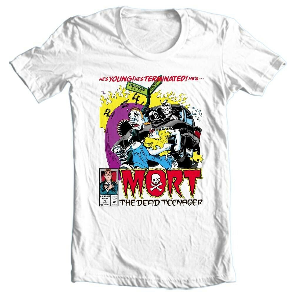Mort the Dead Teenager T Shirt retro 1990s marvel comics graphic tee shirt