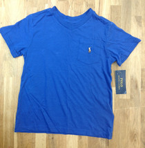 Boy's Ralph Lauren Cotton T-Shirt, Blue, Size 4 - $15.83