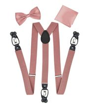 Berlioni Italy Formal Tuxedo Bow Tie Convertible Suspenders Hanky Gift Box Set image 11